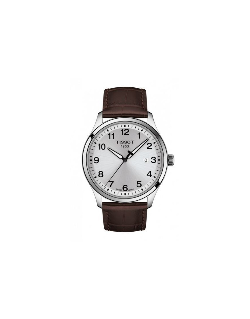 T116.410.16.037.00 - TISSOT GENT XL Silver/ Brown leather