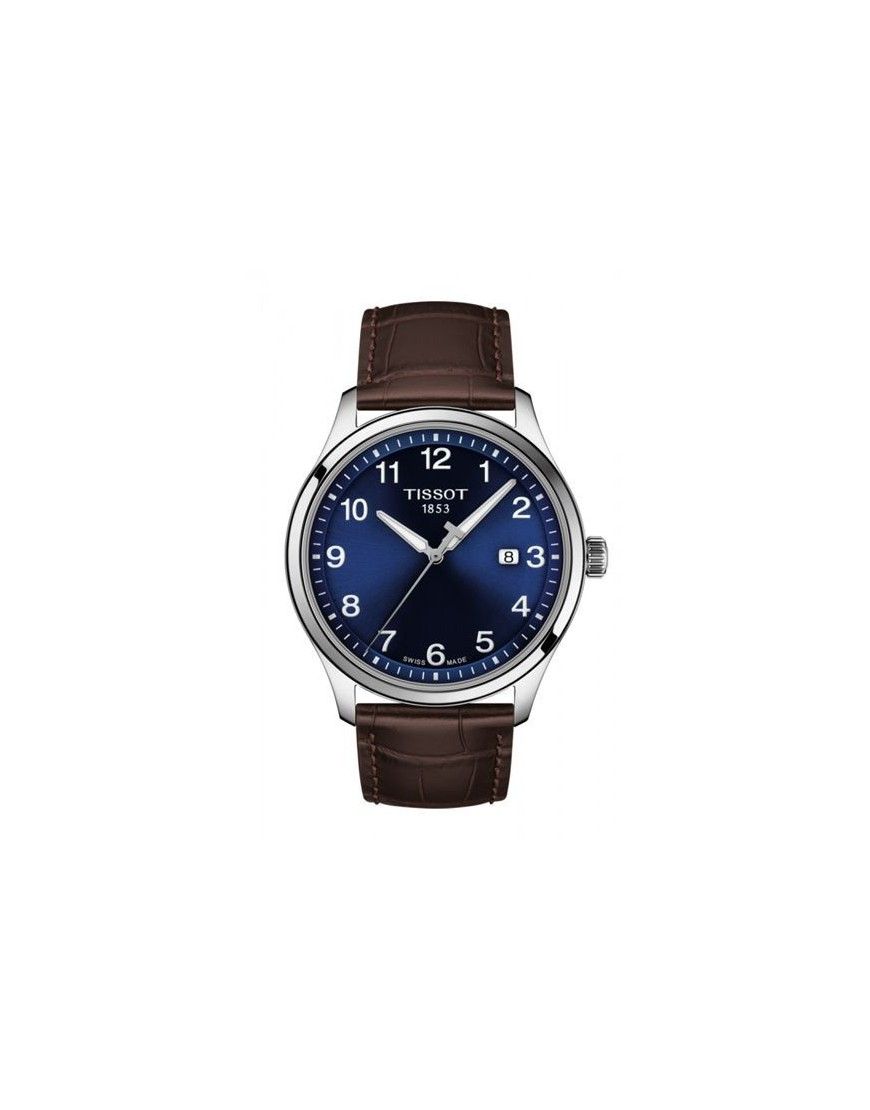 T116.410.16.047.00 - TISSOT GENT XL Blue/ Brown leather