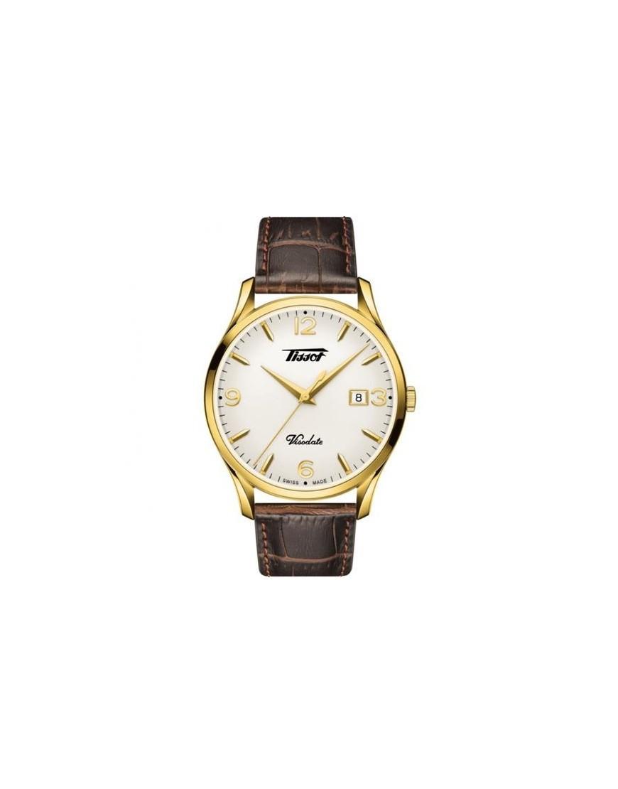 T118.410.36.277.00 - Tissot Visodate Gold PVD silver/brown