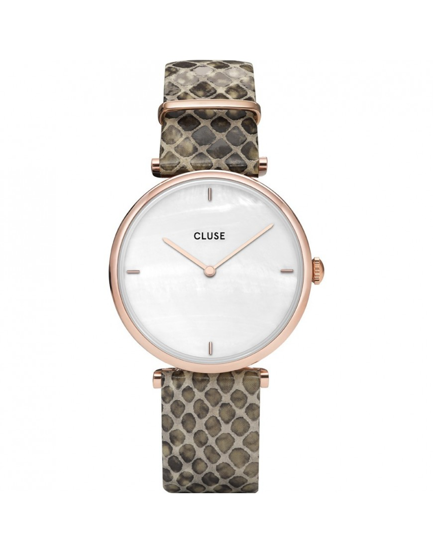 CL61007 - CLUSE Triomphe Rgold Wht Pearl/Python