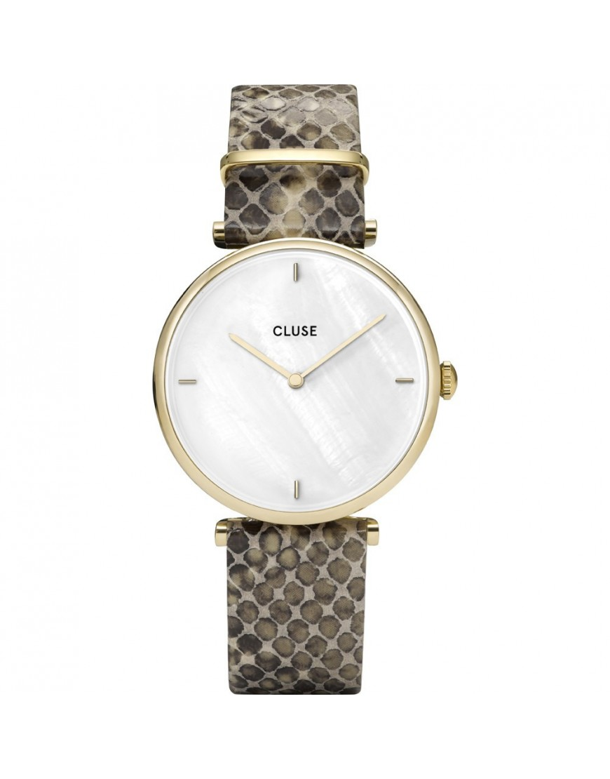 CL61008 - CLUSE Triomphe Gold Wht Pearl/Python