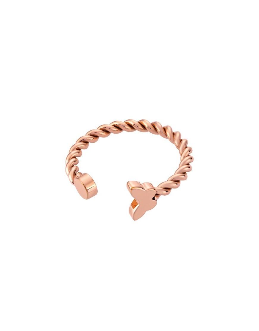JRM087-8 - FARFALLETTE RING PINK GOLD SIZE 8