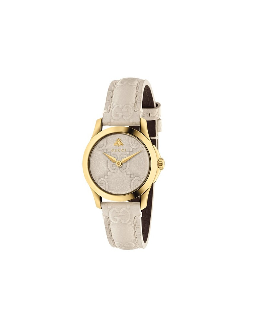 YA126580 - GUCCI TIMELESS SIGN MD WHT/PVD/STP WHT